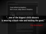 Child abuser in Black Robe - DivorceCorp - 2016