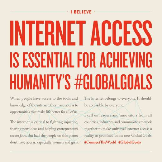 Internet Access is essential for fighting injustice - 2016