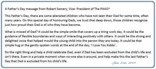 Father's Day Message from PAAO - 6-2015 - Copy