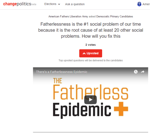 ChangePolitics - Fatherlessness Epidemic - 2016