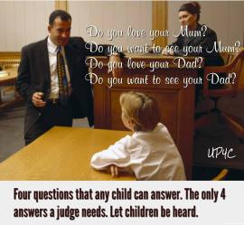 Dedicated to the proposition that children are best served by having unfettered EQUAL access to BOTH parents and to the proposition that fathers are indispensable. http://www.facebook.com/groups/ChildrensRightsFlorida Improve the lives of children and strengthen society by protecting the child's right to the love and care of both parents after separation or divorce. We seek better lives for children through family court reform!! The Facebook Group is about the human rights of children with particular attention to the rights of special protection and care afforded to the young, including their right to association with both biological parents. Read more about children's rights at http://en.wikipedia.org/wiki/Children%27s_rights