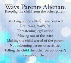 ways parents alienate