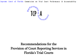 Florida Supreme Court Performance and Accountability Office - 2015