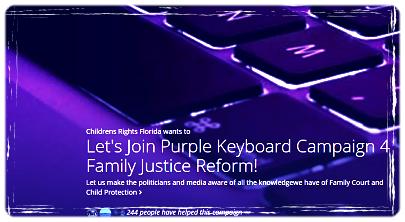 Purple Keyboard Campaign 4Justice - 2015