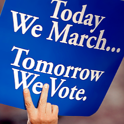 today we march tomorrow we vote - 2015